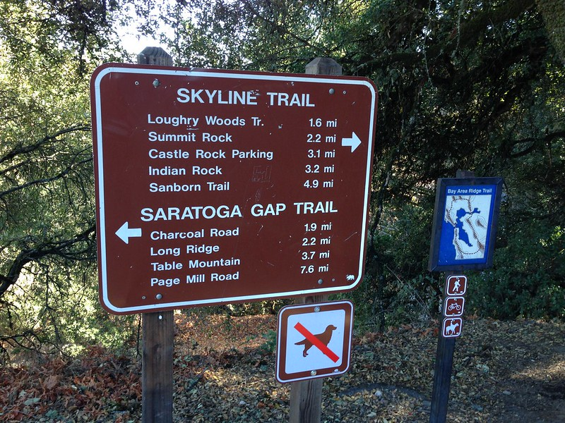 Trail heads at the Gap