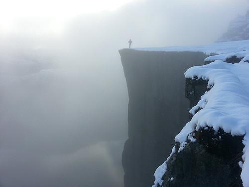Preikestolen v zimě aneb Na skok do země fjordů