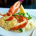 Dungeness crab stuffed Maine lobster