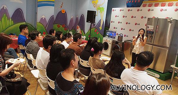 Verlyn Goh sharing nutritional tips