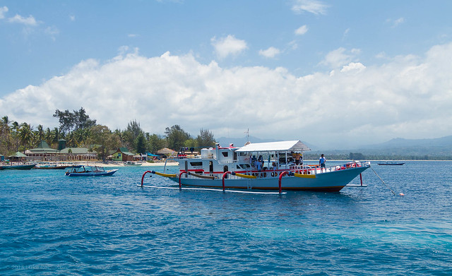 Boats off of Gili Air
