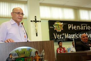 O secretário de governo de Poá, Geraldo Oliveira, representando o prefeito Testinha