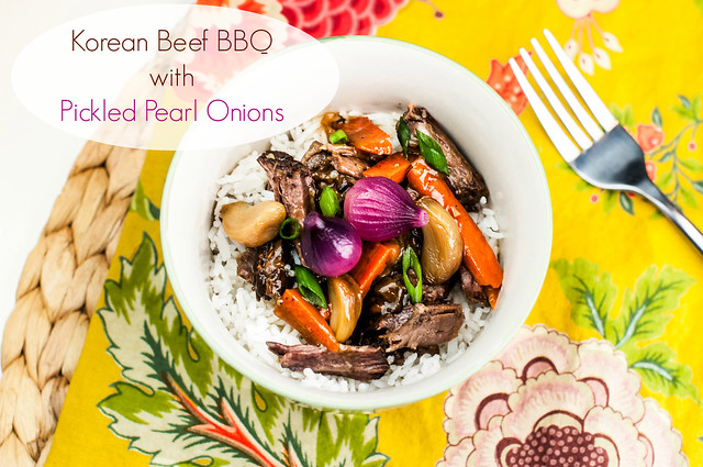 Korean Beef BBQ with Pickled Pearl Onions in_the_know_mom #CampbellsSkilledSaucers