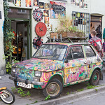 A Decorated Fiat at Krakow