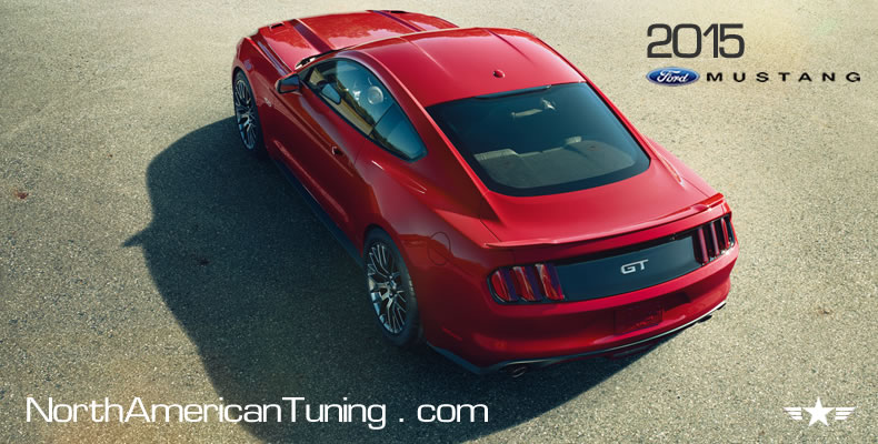 2015 Ford Mustang Unveiling Rear Quarter View