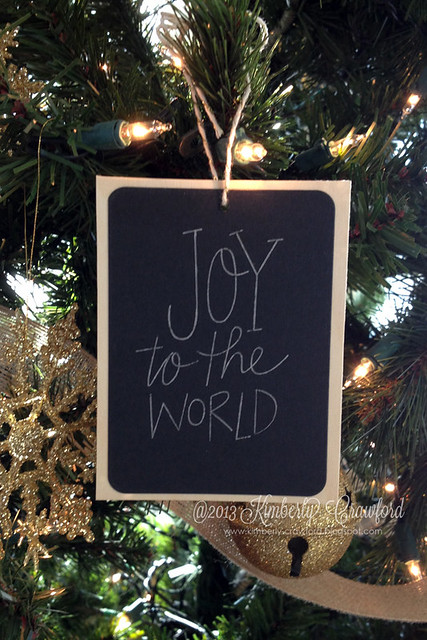 joy to the world ornament by Kimberly Crawford