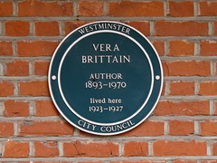 Photo of Vera Brittain green plaque