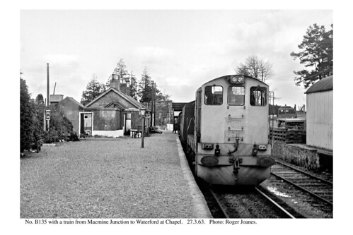 Chapel. B135 & train for Waterford. 27.3.63