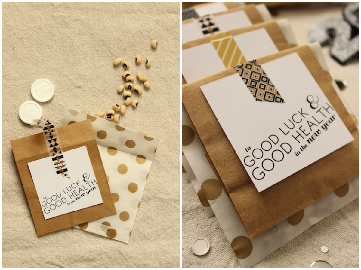 Fabric Paper Glue for Oh So Beautiful Paper | DIY Clever NYE Favors + Printable Tag