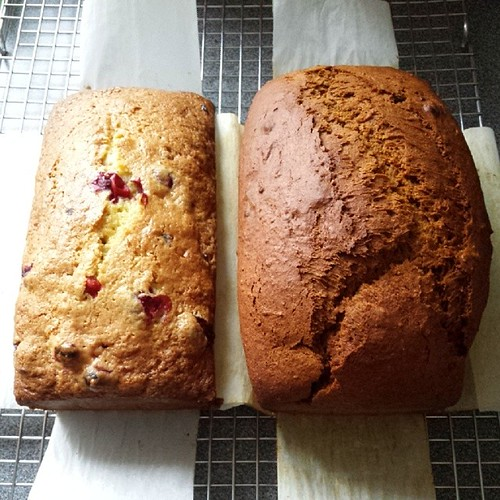 Orange cranberry pecan bread and pain d'epices are ready. Time to break more ice.