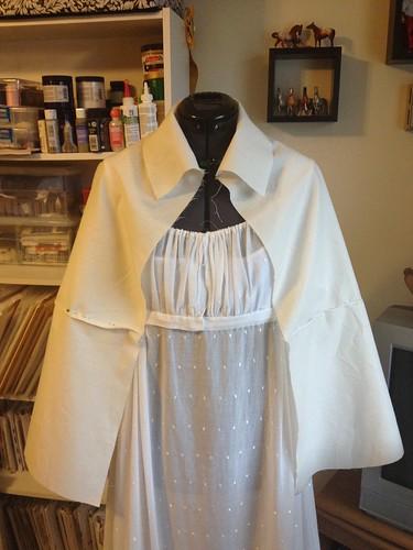 Mockup of Short Cloak, Front