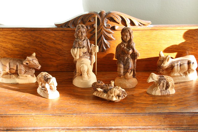Olive Wood Nativity from Israel