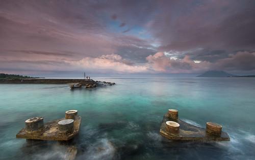 green beach sunrise indonesia bunaken manadotua kawanua