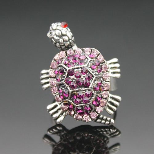 Purple Turtle diamant Ring