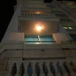 The hotel balconies