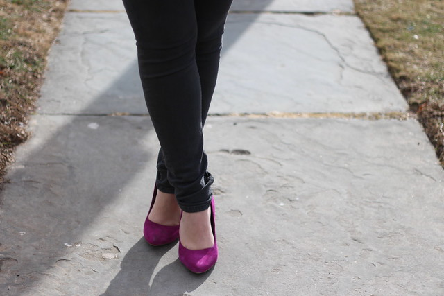 Pink Suede Shoes & Chunky Knits on Living After Midnite