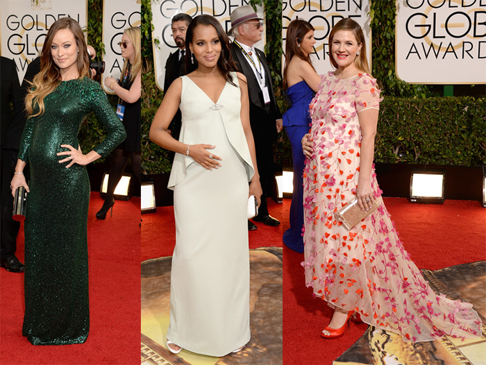 GoldenGlobes14-Olivia Wilde Kerry Washington Drew Barrymore