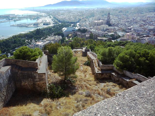 Aussicht vom Castillo Gibralfaro hoch über Malaga