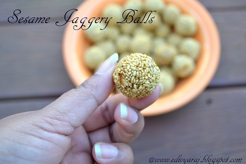 how to make sesame balls with jaggery