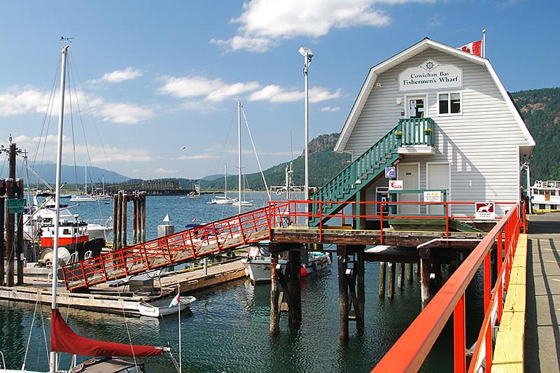 Cowichan Bay Fishermen's Wharf, Cowichan Bay, Cowichan Valley, Vancouver Island, British Columbia