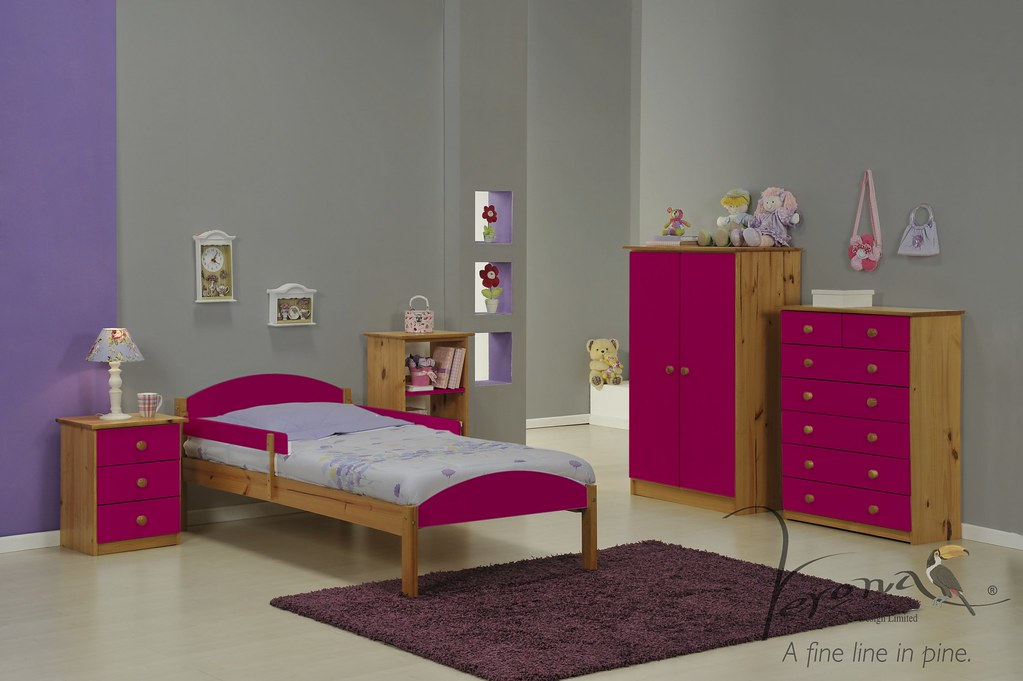 Maximus Bed Frame Antique & Fuchsia - BDFRMAXN3000ANK RS2