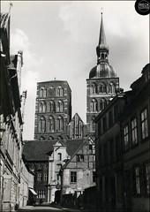 Stralsund - Blick auf die Nikolaikirche 1970 Foto Handabzug AK DDR Vorpommern Pommern Pomerania Pomorze