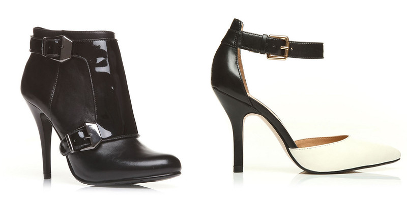 Moda in Pelle Nixie Black Leather Heels & Kace White Heels