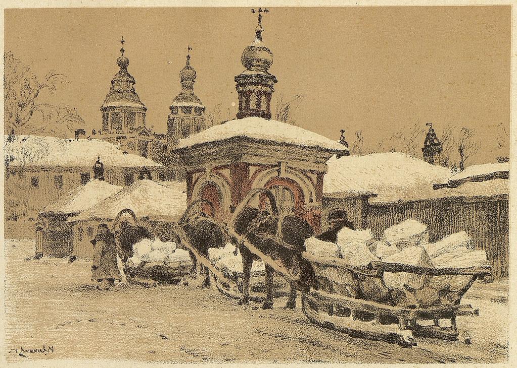 老莫斯科风景画3