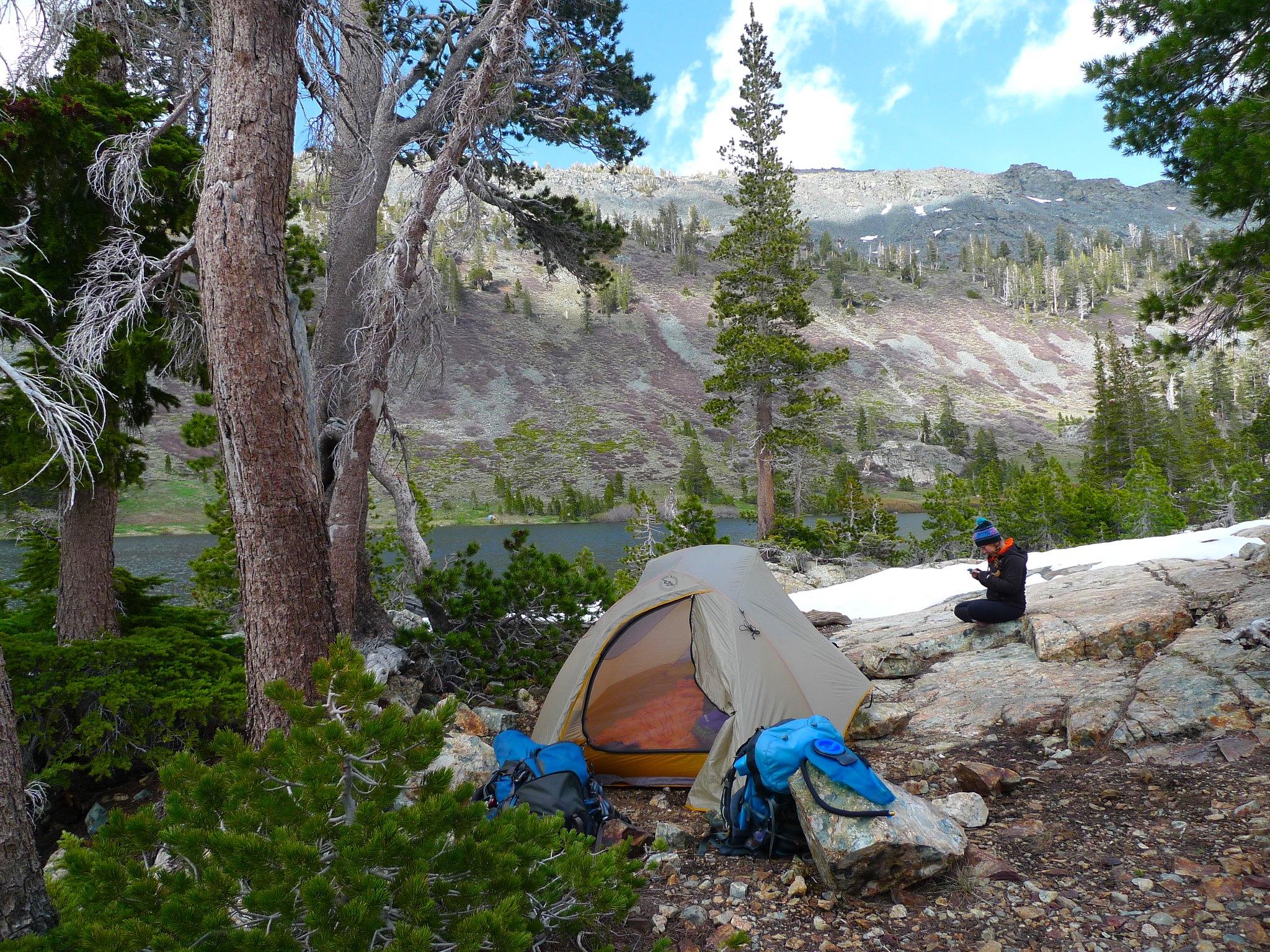 Camp 2 at Half Moon Lake