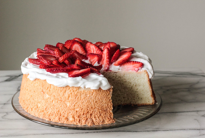 Berry Topped Angel Food Cake