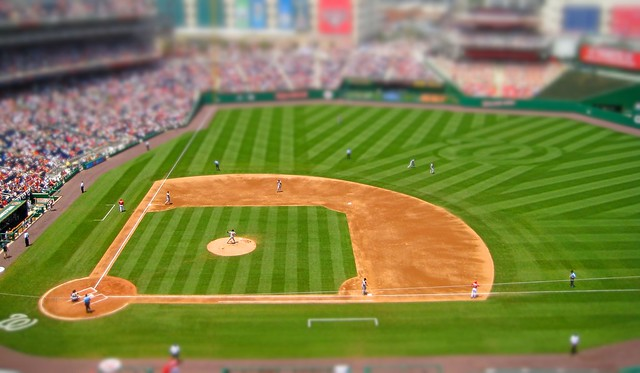 baseball season - tilt shift