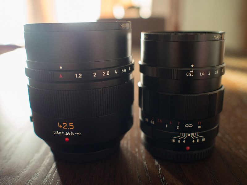 Nocticron 42.5mm f/1.2 vs Voigtlander 25mm f/0.95