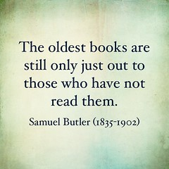 Old Books #quote #SamuelButler #books