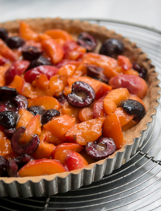 Apricot Cherry Marzipan tart recipe-5