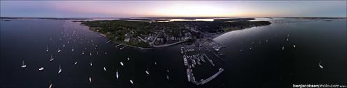 ocean ri sunset jamestown drone dji phantom2visionplus