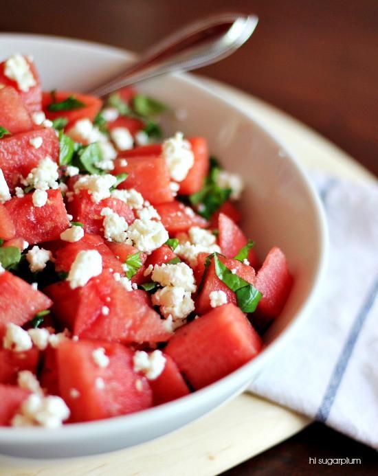 Hi Sugarplum   Watermelon Feta Salad