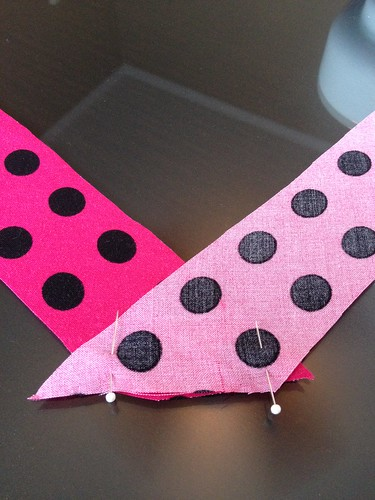 Pink Polka Dot Top - In Progress