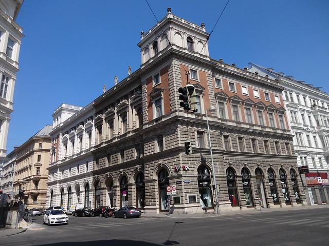 Wien, 1. Bezirk (the art of palais of Vienna), Palais Eschenbach (Getreidemarkt/Eschenbachgasse), built 1872, Architect: Otto Thienemann