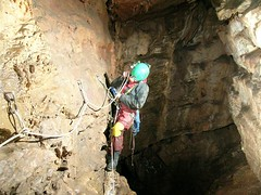 Helen rigging the first pitch Image