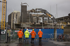 Almost gone: demolition of Marland House, Cardiff city centre