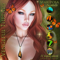 Vengeful Threads - Mariposa Necklace_ad