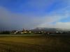 Hoy helada,niebla,sol y cielo azul