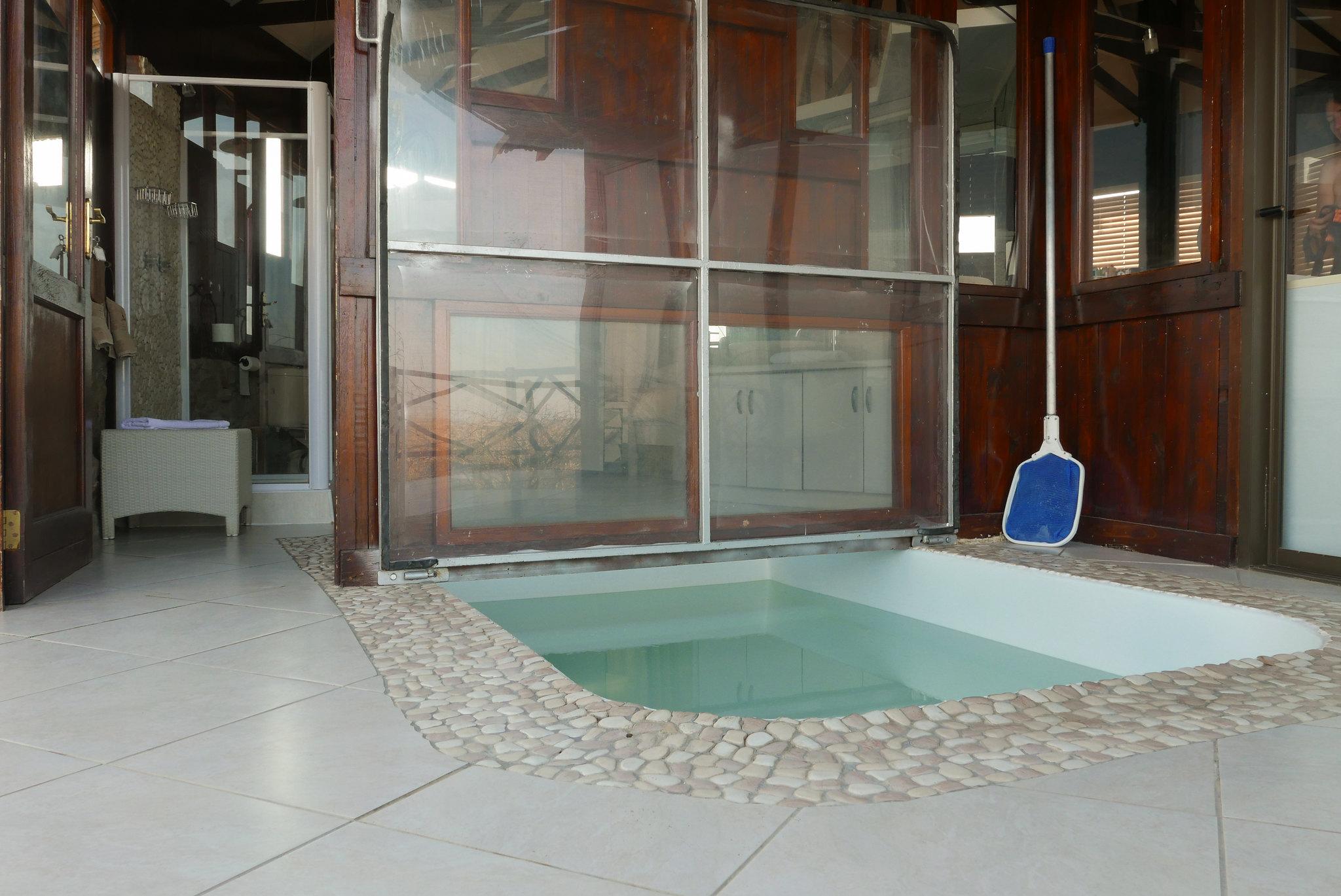 Der Pool unseres Chalets