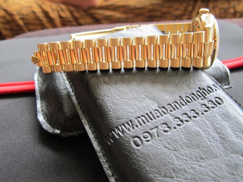 Bán đồng hồ rolex day date 6 số 118348 – mặt men xanh – vành xoàn zin – size 36mm