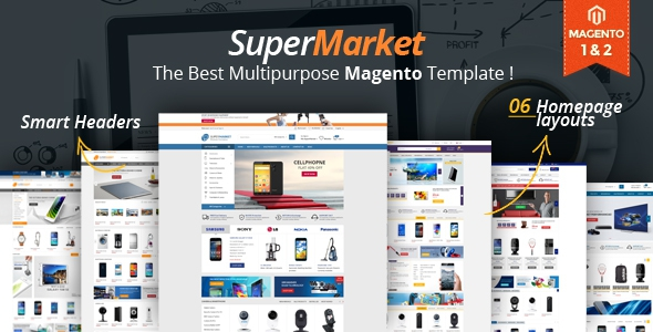 Supermarket – Responsive Magento 1 & 2 Theme