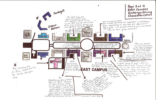 East Campus Map A Color Coded Guide To Duke Living Group Flickr