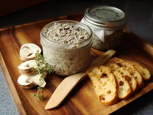 Mushroom Pâté with Olive Oil Toasts