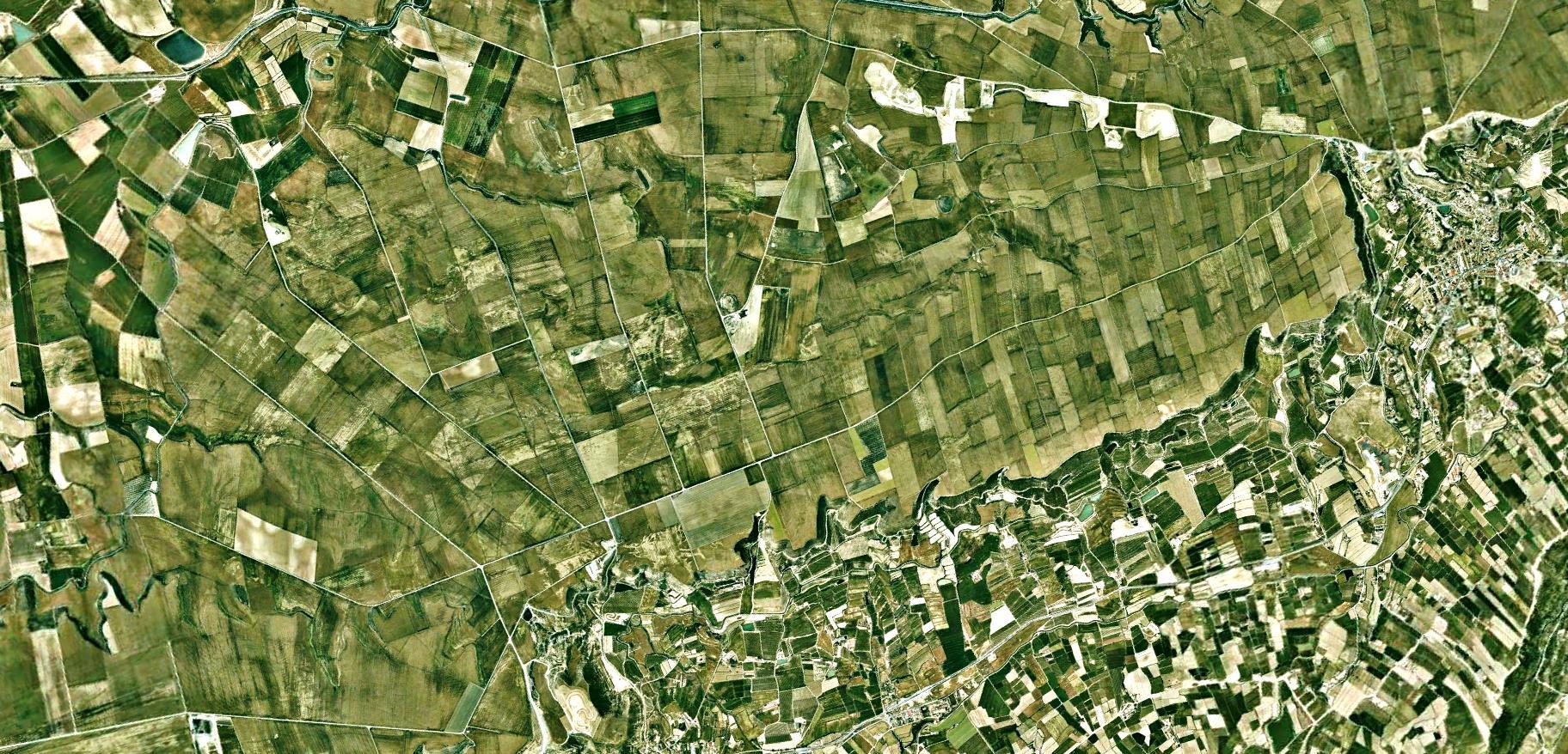 antes, urbanismo, foto aérea, desastre, urbanístico, planeamiento, urbano, construcción, autopista, a ningún sitio, Lleida, Lérida, Alguaire, Almenar, A-14