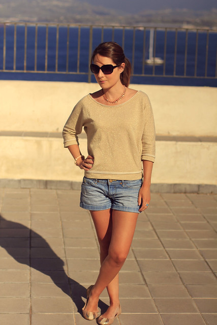 shorts and golden