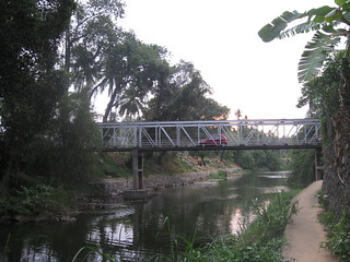 A view of the Thanmalam - Pappanamcode bridge from the river banks